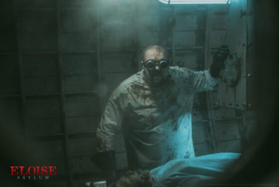 mad scientist doctor at eloise asylum haunted house in michigan