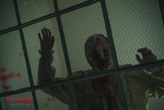 patient zombie at eloise asylum haunted tour in michigan